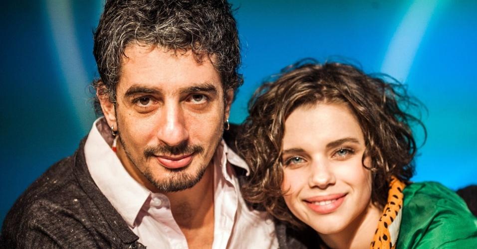 Os atores Michel Melamed e Bruna Linzmeyer estão juntos desde 2010