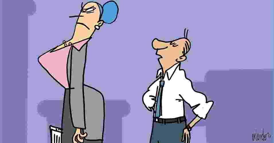 """Seu chefe é compreensivo e adepto da linha """"amigão""""? Sorte a sua. Ainda assim, por mais tolerante e camarada que ele seja, existem certas frases que não devem ser ditas sob nenhuma circunstância. Elas transmitem descaso, falta de profissionalismo e desinteresse pelo trabalho. Veja quais são para evitá-las, pois até mesmo os chefes do tipo bonzinhos não engolem determinadas desculpas e justificativas. Por Heloísa Noronha, do UOL, em São Paulo - Orlando/UOL"""