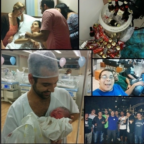 11.jun.2014 - Nasce o segundo neto do cantor Zeca Pagodinho