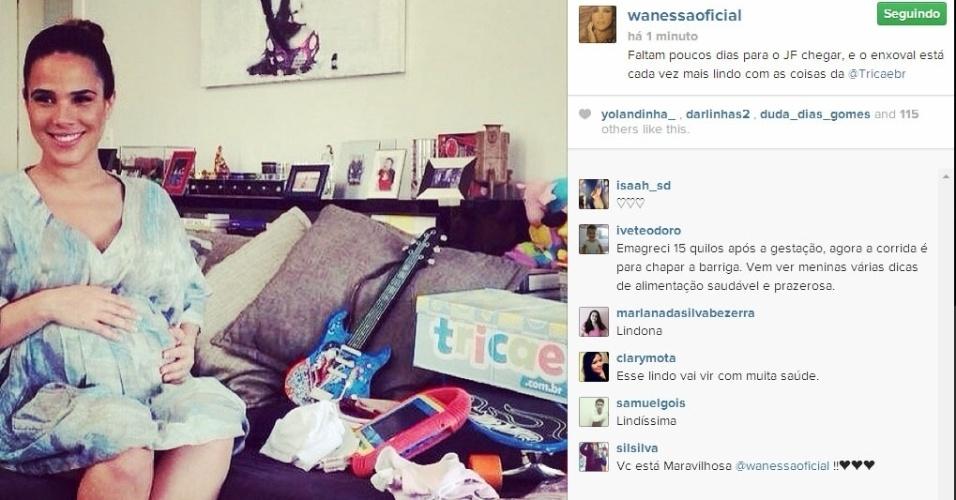 11.jun.2014 - Prestes a dar à luz, Wanessa Camargo mostra o seu enxoval