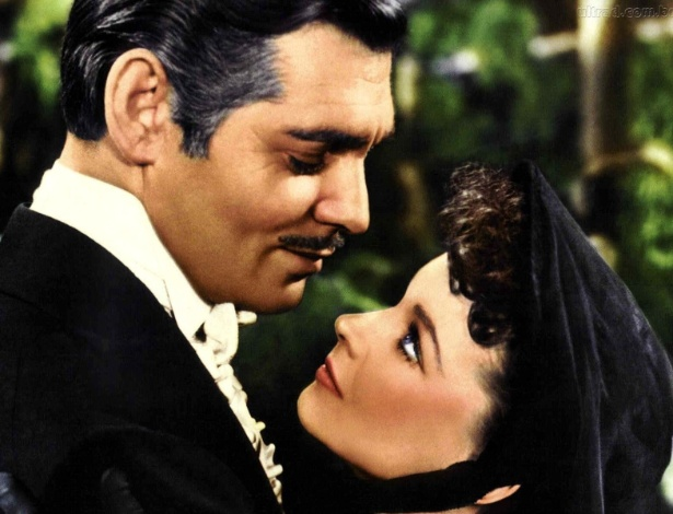 "Scarlett (Vivien Leigh) e Rhett Buttler (Clarrk Gable), de ""E o Vento Levou..."" (1939) - Reprodução"