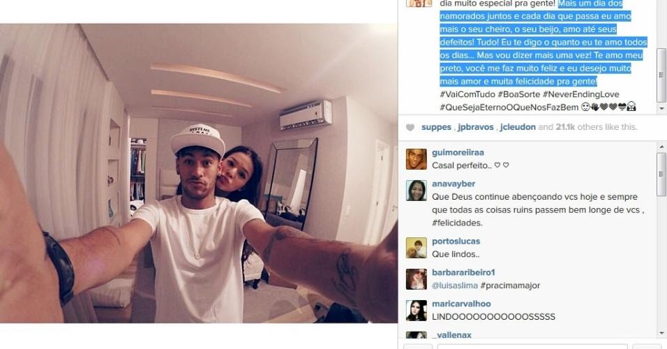 12,jun.2014 - Bruna Marquezine se declara para Neymar