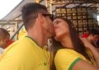 Ex-BBBs Franciele e Diego torcem pelo Brasil em clima de romance - Marcela Ribeiro