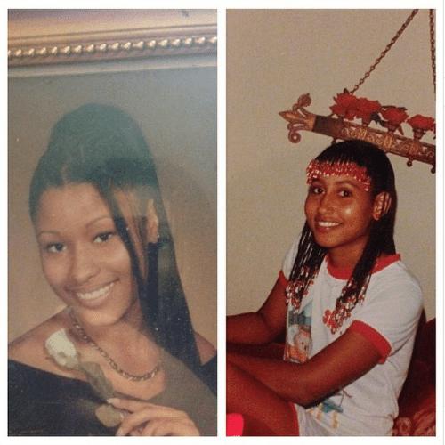 13.jun.2014 - Nicki Minaj exibe uma foto de sua adolescência e se compara com sua tia no Instagram