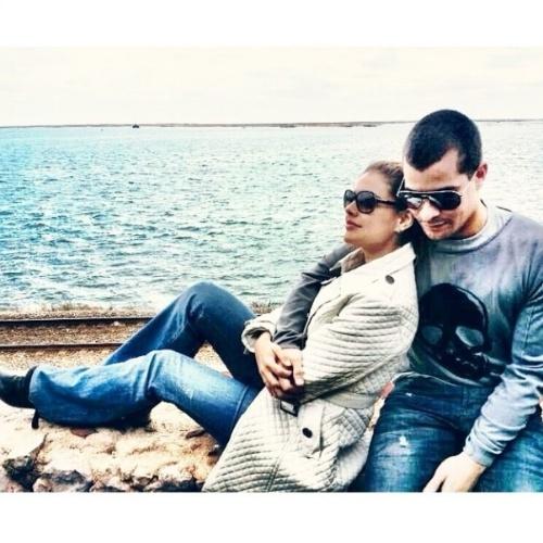 """13.jun.2014 - Paloma Bernardi se declara para Thiago Martins: """"Todo dia é dia de namorar"""", escreveu"""