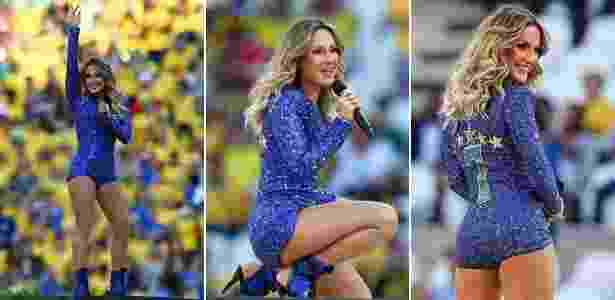 Macacão Claudia Leitte - Copa do Mundo - Por Água de Coco - Getty Images/Divulgação - Getty Images/Divulgação