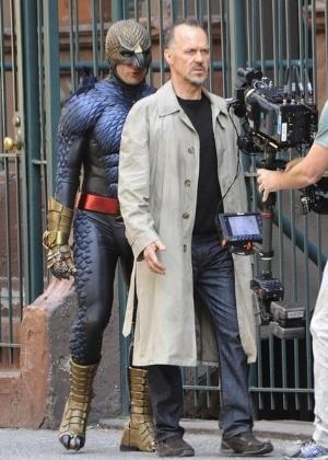 """Personagem de Michael Keaton é """"assombrado"""" pelo herói Homem-Pássaro nas filmagens de """"Birdman"""", de Alejandro González Iñárritu - Divulgação"""