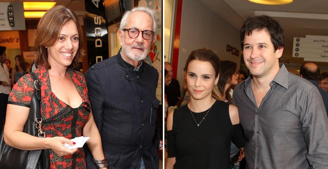 13.jun.2014 - Bel Kutner acompanha o pai, Paulo José na estreia da peça