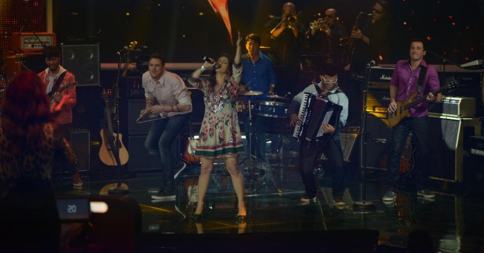 "15.jun.2014 - O forró da Bicho de Pé levou 72% dos votos do público do ""SuperStar"" no programa que definiu os sete finalistas do reality musical"