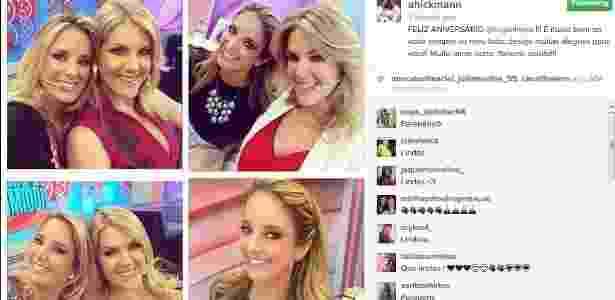 Ticiane teve crise nervosa ao saber que a melhor amiga sofrera ataque no domingo - Reprodução/Instagram/ahickmann