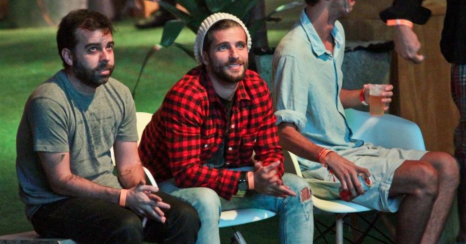 16.jun.2014 - Bruno Gagliasso conferiu a jogos da Copa do Mundo no Parque da Bola Rio, no Jockey Club da Gávea, Rio de Janeiro