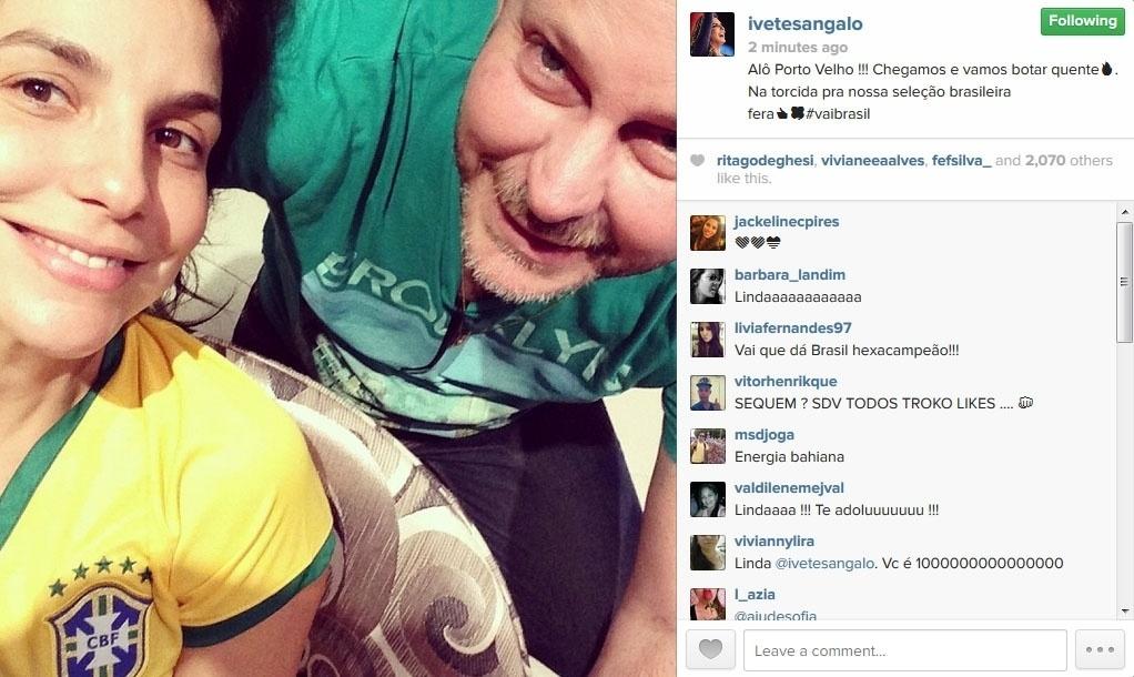 17.jun.2014 - Ivete Sangalo posta foto com o amigo Dito e escreve: