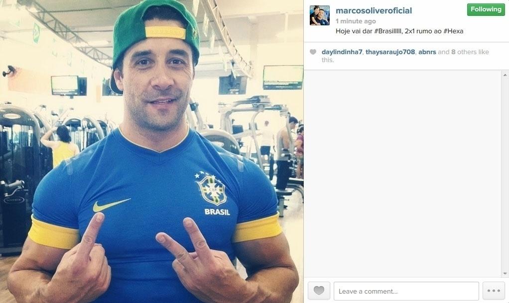 17.jun.2014 - Marcos Oliver faz o seu palpite para o jogo desta terça-feira: 2 a 1 para o Brasil contra a Seleção Mexicana.