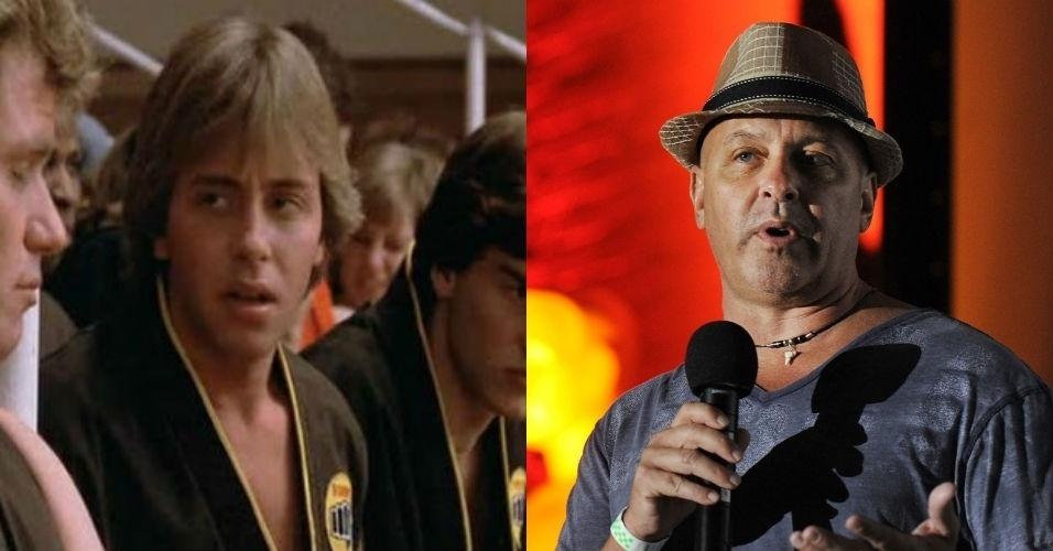 """Ron Thomas - Bobby - Um dos alunos da Cobra Kai, a carreira de Ron Thomas não emplacou. Ele parou de atuar em 1987 e abriria uma escola de jiu jitsu. Ele também lançou um livro de autoajuda com o curioso nome de """"Pensamento Positivo é para Maricas"""""""