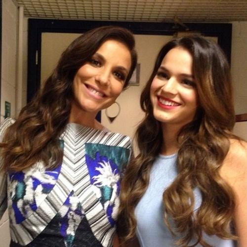 "23.jun.2014 - Ivete Sangalo elogia Bruna Marquezine: ""princesinha linda"""