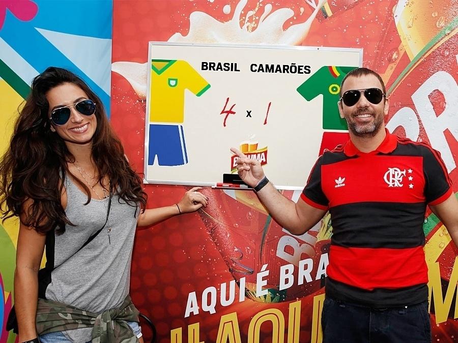 23.jun.2014 - Marcelo Faria também deu o seu palpite: 4 gols para o Brasil e 1 para Camarões