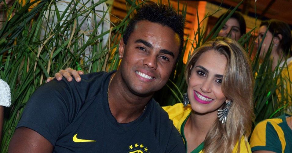 23.jun.2014- Jorge Sá assiste jogo Brasil e Camarões em festa no Rio de Janeiro