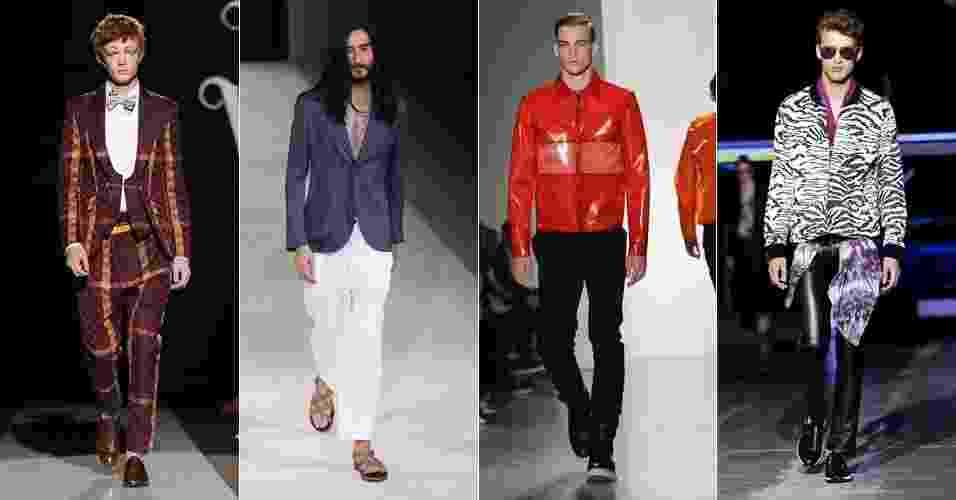 Montagem da semana de moda masculina de Milão - Getty Images/Montagem UOL