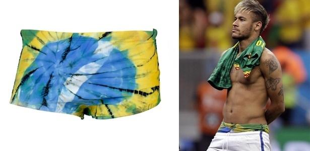 Sunga de Neymar usada no jogo contra Camarões nesta segunda (23) é da marca Blue Man - Divulgação