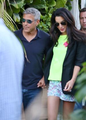 George Clooney e Amal Alamuddin ficaram noivos em abril deste ano e devem se casar em breve