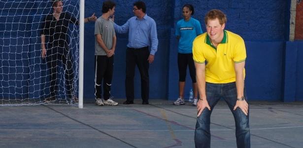 Príncipe Harry durante passagem pelo Brasil em junho