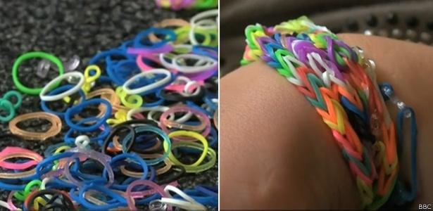 As pulseiras de plástico têm como público-alvo crianças entre oito e 12 anos, mas celebridades aderiram à mania - Divulgação