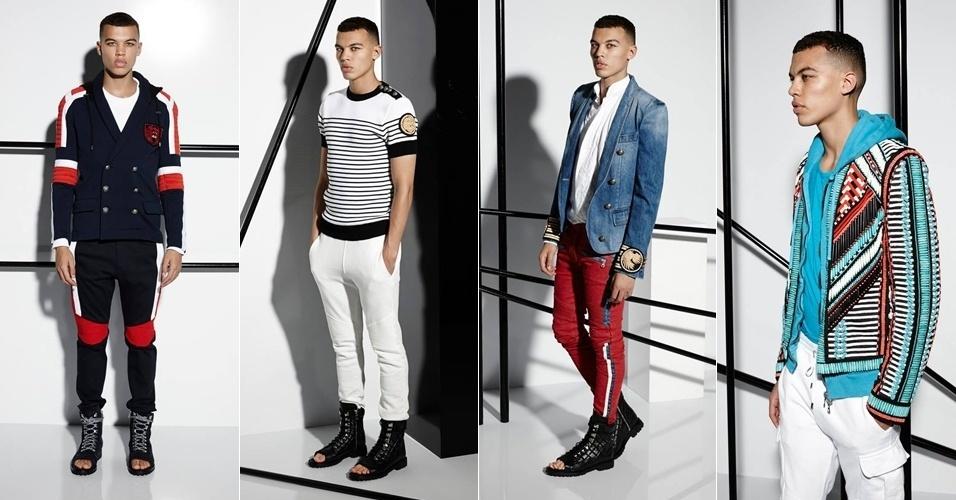26.jun.2014 - Lookbook da coleção primavera verão masculina da Balmain 140956932e