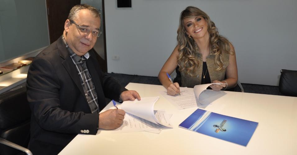Fani Pacheco e o Diretor de Programação da Rede TV!, Francisco Almeida