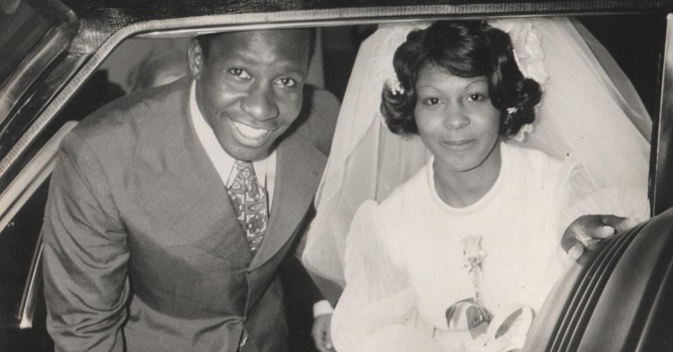Mussum em seu casamento com Neila, no dia 3 de Novembro de 1972