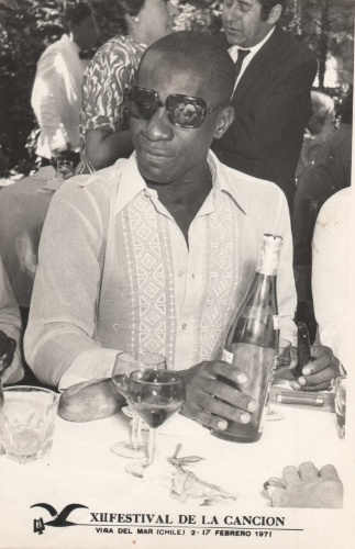 Mussum na 12ª edição do Festival Internacional de la Canción de Viña del Mar, em fevereiro de 1971