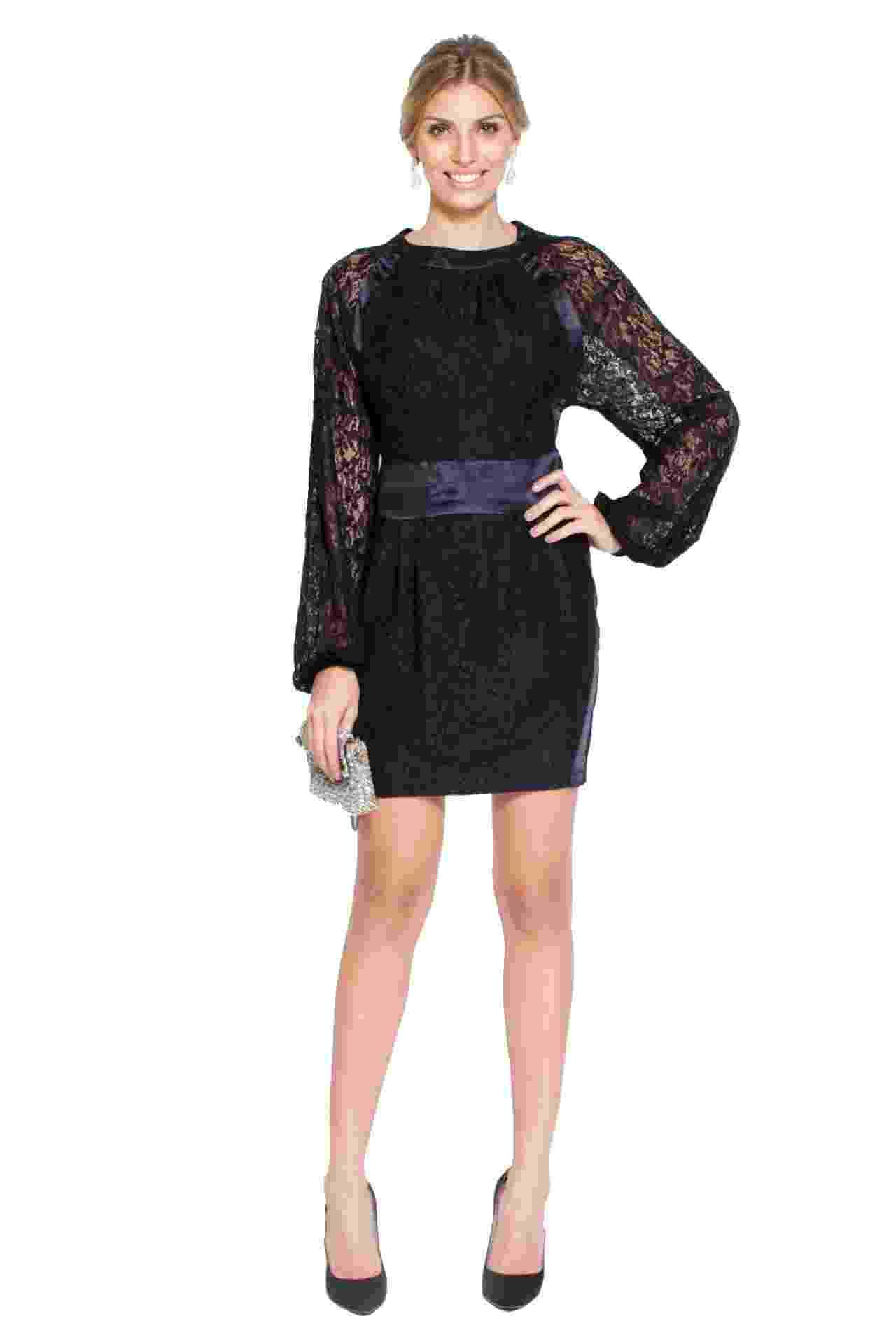 Vestido preto de mangas longas feito em viscose, da Carina Duek, é opção para convidadas. Pode ser alugado na Dress & Go (www.dressandgo.com.br) por R$ 300. Preço pesquisado em junho de 2014. Sujeito a alterações - Divulgação