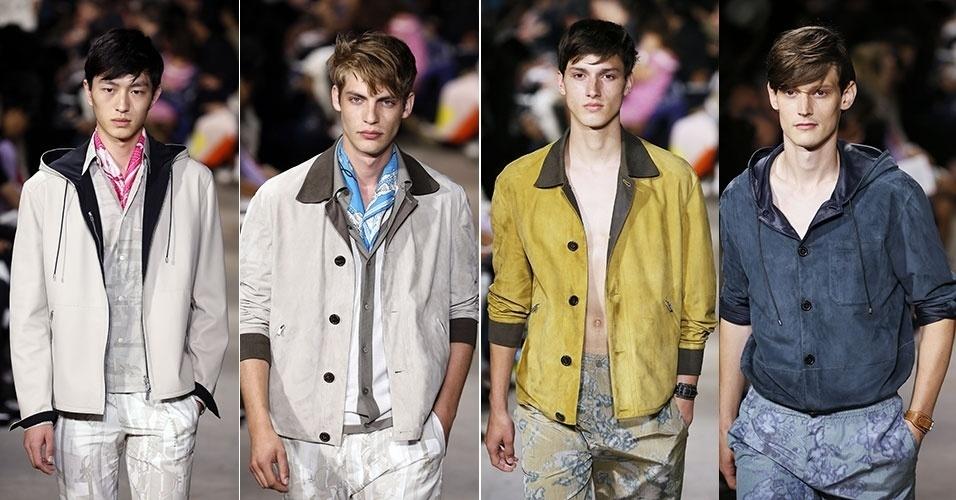 28.jun.2014 - A coleção para primavera-verão apresentada pela Hermès traz 7b78ea0b676