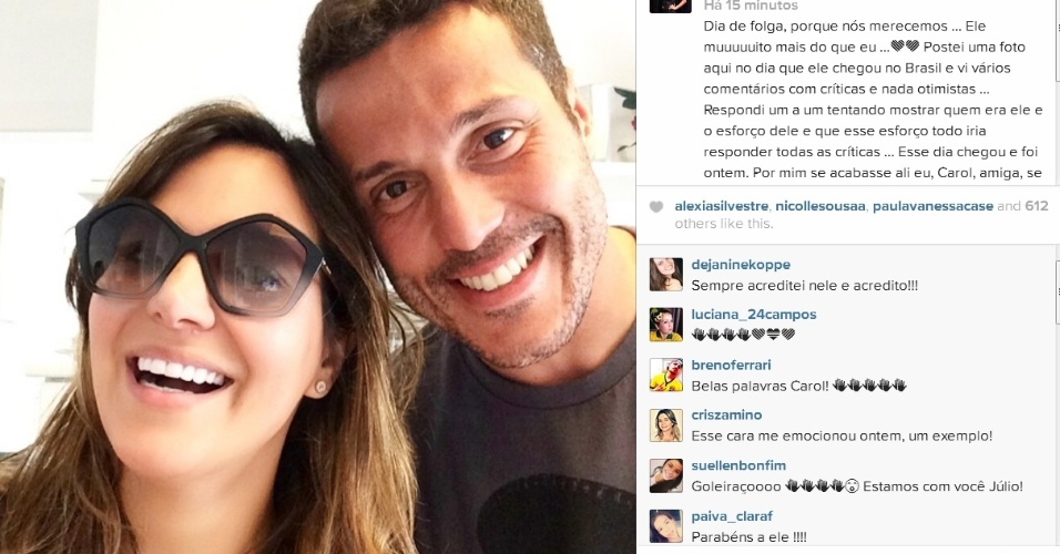 Promoter Carol Sampaio curte churrasco na casa de Júlio César que recebeu amigos e familiares no Rio de Janeiro