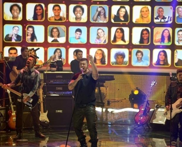 """30.jun.2014 - Na semifinal do """"SuperStar"""", a banda Malta chegou aos 76% de aprovação e se classificou para a grande final do reality show musical"""