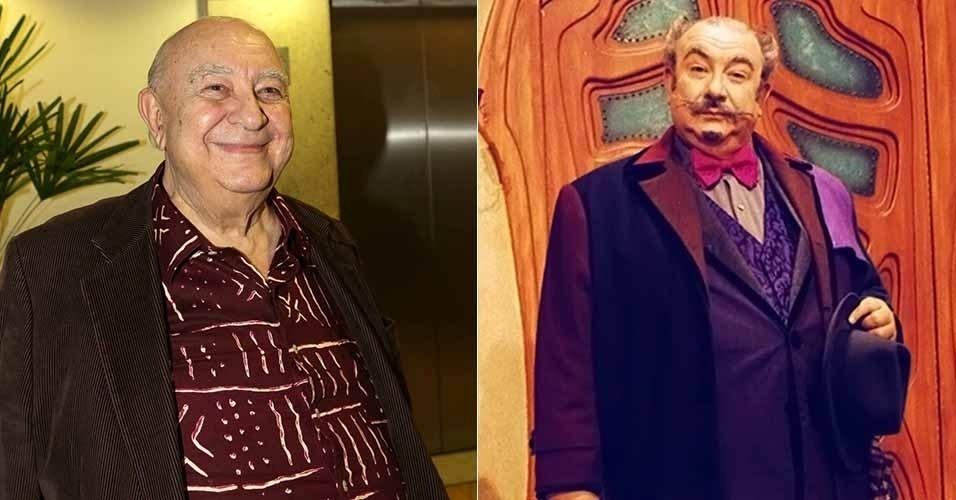 """Em """"Castelo Rá-Tim-Bum, Sérgio Mamberti era o doutor Victor, tio de Nino, que adorava ralhar com o garoto, usando seu bordão """"raios e trovões!"""""""