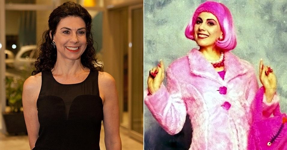 Penélope, a jovem e bonita repórter que adorava usar roupas e peruca cor de rosa foi interpretada por Ângela Dip