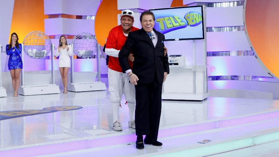 Liminha com Silvio Santos - Divulgação/SBT