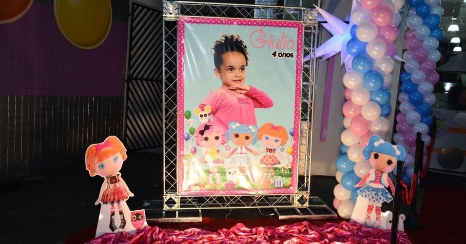 01.jul.2014 - Decoração da festa de aniversário de Giulia, filha de Sheila Carvalho e Tony Salles
