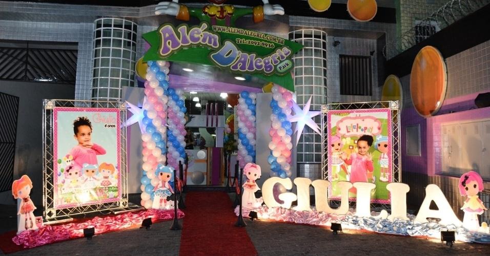 01.jul.2014 - Decoração de aniversário da festa de Giulia, filha de Sheila Carvalho e Tony Salles