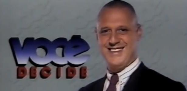 """Antônio Fagundes foi um dos primeiros apresentadores do """"Você Decide"""", apresentado na Globo entre 1992 e 2000"""