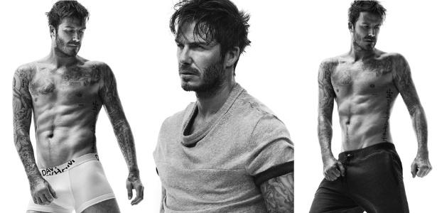 Nova campanha do ex-jogador David Beckham para a grife sueca H&M - Divulgação/Fotomontagem UOL