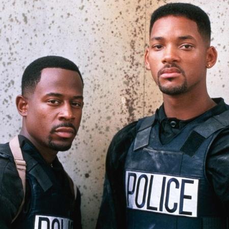 Os atores Martin Lawrence e Will Smith na pele dos detetives Mike Lowrey e Marcus Burnett - Reprodução