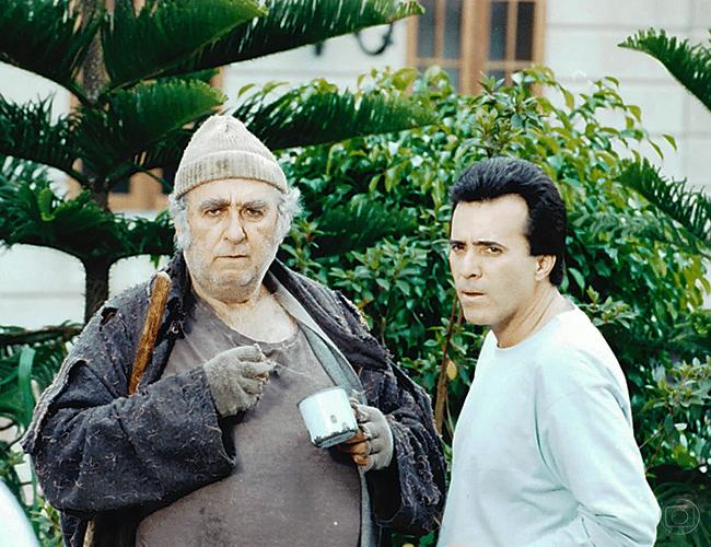 """Canequinha (Elias Gleizer) e Floriano Ferraz (Tony Ramos) em """"Anjo de Mim"""""""
