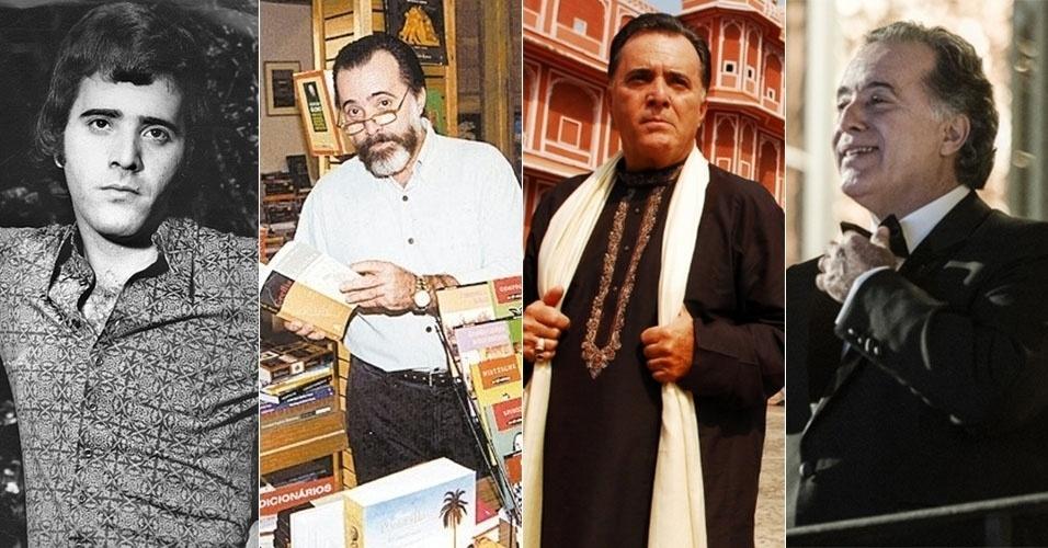 Montagem de fotos de Tony Ramos em novelas