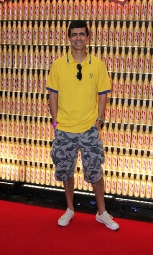 3.jul.2014 -  Március Melhem marca presença no Budweiser Hotel by Pestana em Copacabana, no Rio de Janeiro, para acompanhar o jogo do Brasil x Colômbia