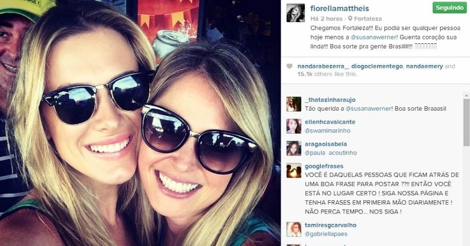 4.jul.2014 - Fiorella Mattheis diz que não gostaria de ser Susana Werner no dia de hoje