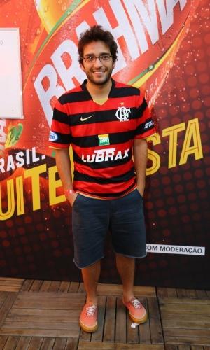4.jul.2014 - Humberto Carrão chega para acompanhar o jogo entre França e Alemanha no estádio do Maracanã, no Rio de Janeiro