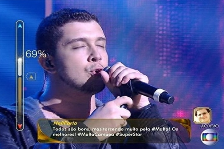 """6.jul.2014 - Com a música própria """"Entre Nós Dois"""", a banda Malta conquista 71% dos votos na final do """"SuperStar"""""""
