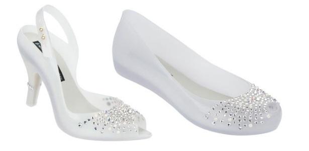Melissa lança salto e sapatilha em estilo peep toe para noivas - Divulgação