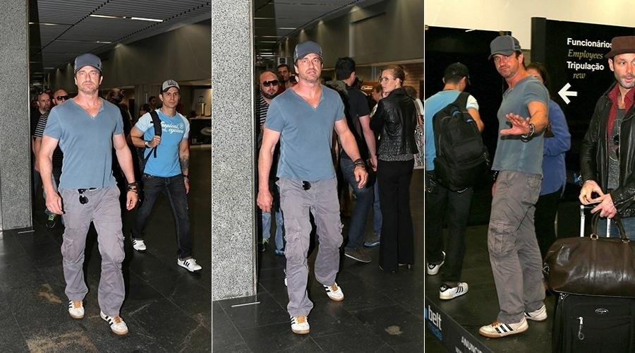 8.jul.2014 - O ator Gerard Butler, famoso por estrelar o filme